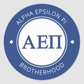 Alpha Epsilon Pi | Badge Classic Round Sticker