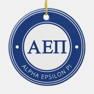 Alpha Epsilon Pi | Badge Round Ceramic Decoration