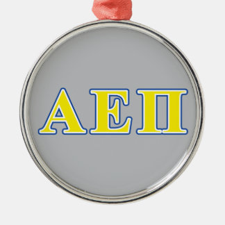 Alpha Epsilon Pi Blue and Yellow Letters Christmas Ornament