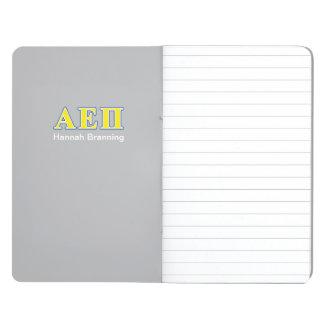 Alpha Epsilon Pi Blue and Yellow Letters Journal