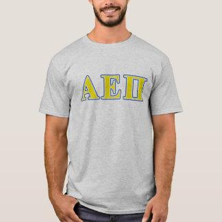 Alpha Epsilon Pi Blue and Yellow Letters T-Shirt