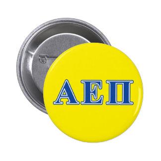 Alpha Epsilon Pi Blue Letters 6 Cm Round Badge