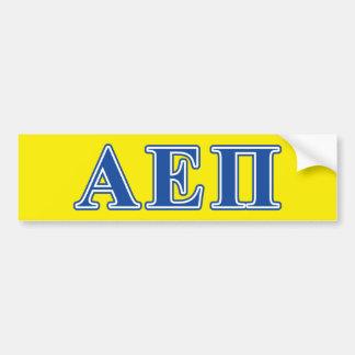 Alpha Epsilon Pi Blue Letters Bumper Sticker