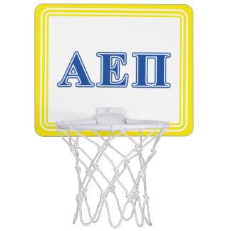 Alpha Epsilon Pi Blue Letters Mini Basketball Hoop