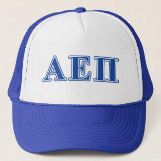 Alpha Epsilon Pi Blue Letters Trucker Hat