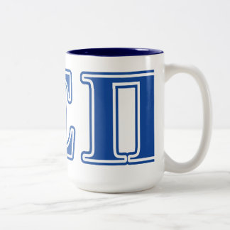 Alpha Epsilon Pi Blue Letters Two-Tone Coffee Mug