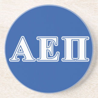 Alpha Epsilon Pi White and Blue Letters Drink Coaster