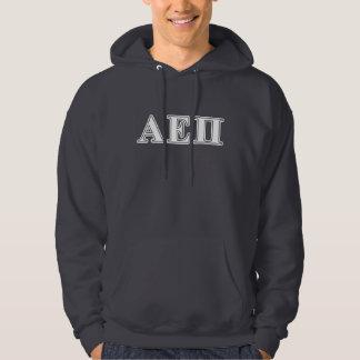 Alpha Epsilon Pi White and Blue Letters Hoodie