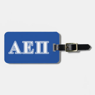 Alpha Epsilon Pi White and Blue Letters Luggage Tag