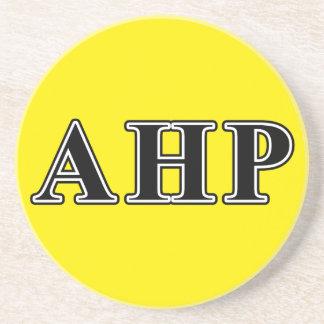 Alpha Eta Rho Black Letters Beverage Coaster