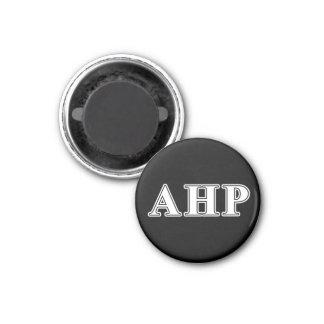Alpha Eta Rho White and Black Letters 3 Cm Round Magnet