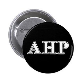 Alpha Eta Rho White and Black Letters 6 Cm Round Badge