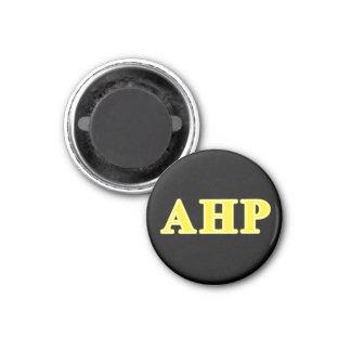Alpha Eta Rho Yellow Letters 3 Cm Round Magnet