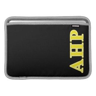 Alpha Eta Rho Yellow Letters MacBook Sleeve
