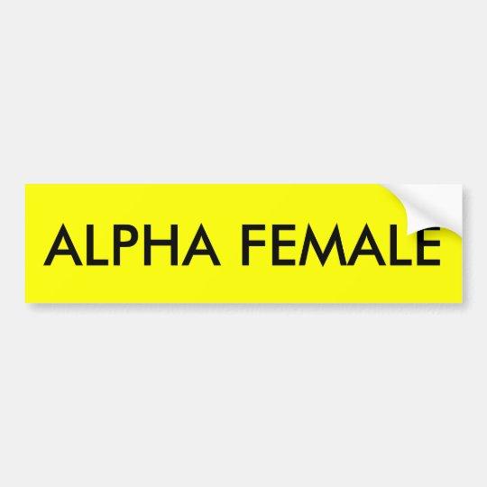 ALPHA FEMALE BUMPER STICKER