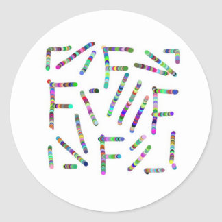 ALPHA FFF based art Classic Round Sticker