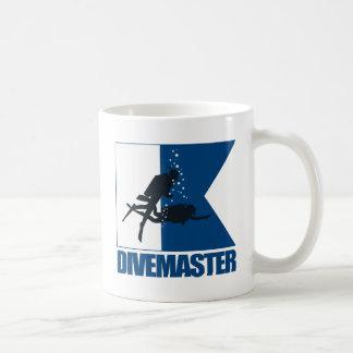 """""""Alpha Flag -Divemaster"""" Classic White Coffee Mug"""