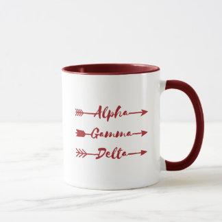 Alpha Gamma Delta Arrow Mug