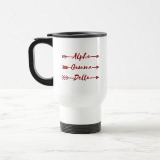 Alpha Gamma Delta Arrow Travel Mug