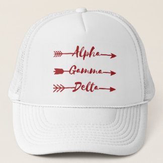 Alpha Gamma Delta Arrow Trucker Hat
