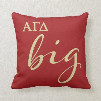 Alpha Gamma Delta Big Script Cushion