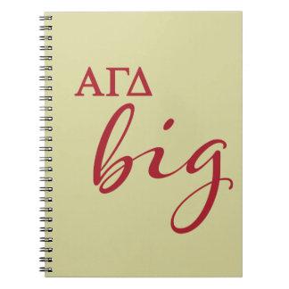 Alpha Gamma Delta Big Script Notebooks