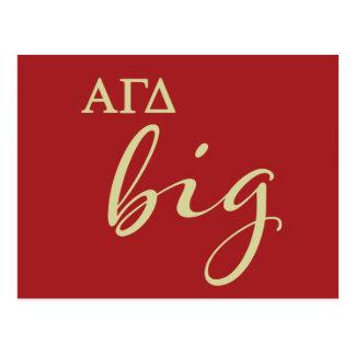 Alpha Gamma Delta Big Script Postcard
