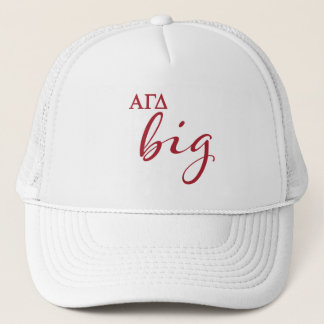 Alpha Gamma Delta Big Script Trucker Hat