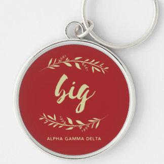 Alpha Gamma Delta Big Wreath Key Ring