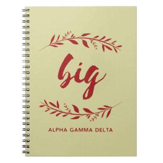 Alpha Gamma Delta Big Wreath Notebooks