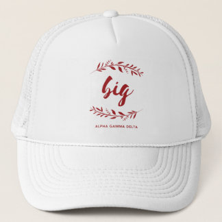 Alpha Gamma Delta Big Wreath Trucker Hat