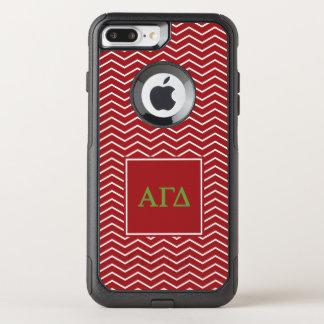 Alpha Gamma Delta | Chevron Pattern OtterBox Commuter iPhone 8 Plus/7 Plus Case