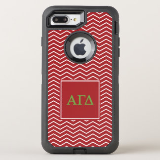 Alpha Gamma Delta | Chevron Pattern OtterBox Defender iPhone 8 Plus/7 Plus Case