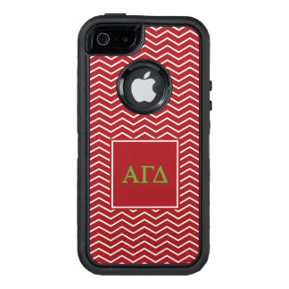 Alpha Gamma Delta | Chevron Pattern OtterBox Defender iPhone Case