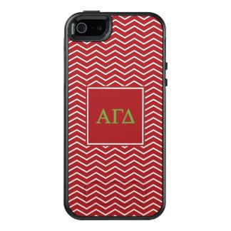 Alpha Gamma Delta   Chevron Pattern OtterBox iPhone 5/5s/SE Case