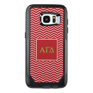 Alpha Gamma Delta | Chevron Pattern OtterBox Samsung Galaxy S7 Edge Case
