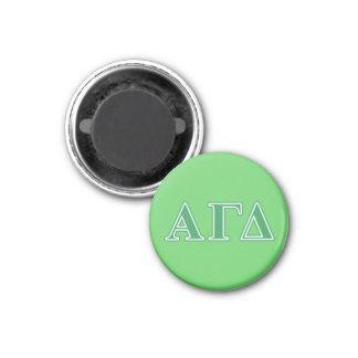 Alpha Gamma Delta Green Letters Magnet