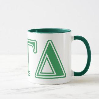 Alpha Gamma Delta Green Letters Mug