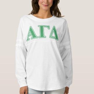 Alpha Gamma Delta Green Letters Spirit Jersey