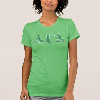 Alpha Gamma Delta Green Letters T-Shirt