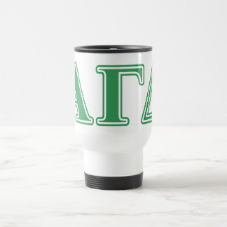Alpha Gamma Delta Green Letters Travel Mug