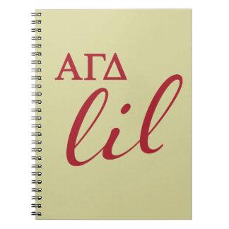 Alpha Gamma Delta Lil Script Notebooks