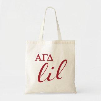 Alpha Gamma Delta Lil Script Tote Bag