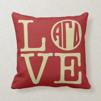 Alpha Gamma Delta Love Cushion