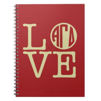 Alpha Gamma Delta Love Notebook
