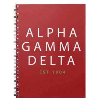 Alpha Gamma Delta Modern Type Notebooks