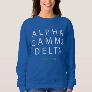 Alpha Gamma Delta Modern Type Sweatshirt