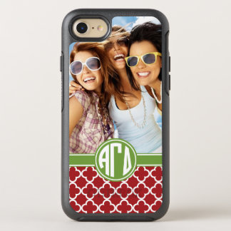 Alpha Gamma Delta | Monogram and Photo OtterBox Symmetry iPhone 7 Case