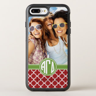 Alpha Gamma Delta | Monogram and Photo OtterBox Symmetry iPhone 7 Plus Case
