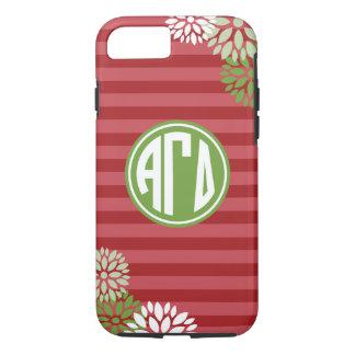 Alpha Gamma Delta | Monogram Stripe Pattern iPhone 8/7 Case